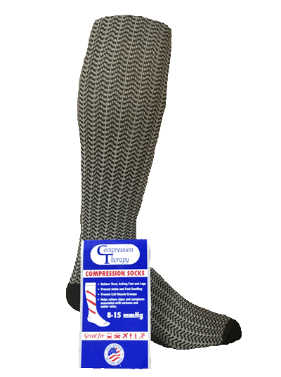 Compression SOCKS - Brown Chevron (sold by pair)