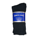 Black Diabetic Crew Socks